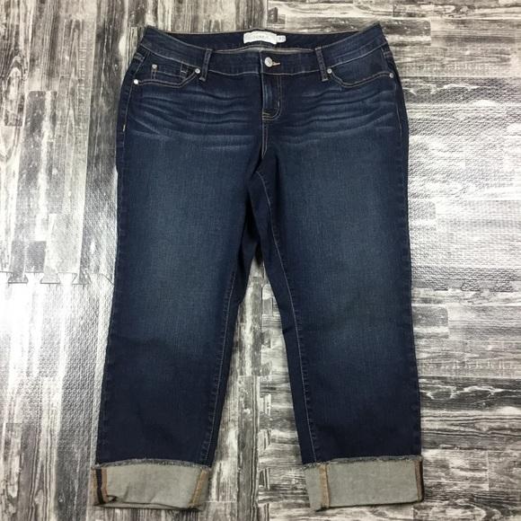 torrid Denim - Torrid Cropped Jeans Plus Size 14 Dark Blue